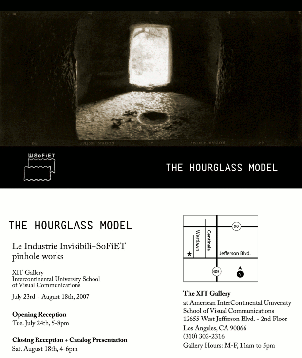 THE HOURGLASS MODEL - Xit Gallery, Los Ageles